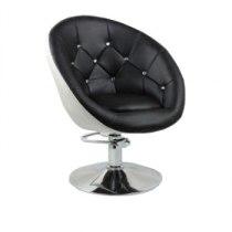 Кресло парикмахерское HC-8516H черно-белое | Venko
