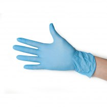 Перчатки нитриловые неопудренные голубые М Polix PRO & MED, 100 шт | Venko