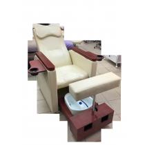 Педикюрное кресло с вибромассажной ванночкой для ног SPA-120 white (белое)   Venko - Фото 52573