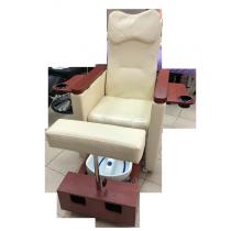 Педикюрное кресло с вибромассажной ванночкой для ног SPA-120 white (белое) | Venko