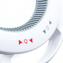 6017-H LED 5D Лампа-лупа настольная  цвет: белый.  С РЕГУЛИРОВКОЙ ЯРКОСТИ.