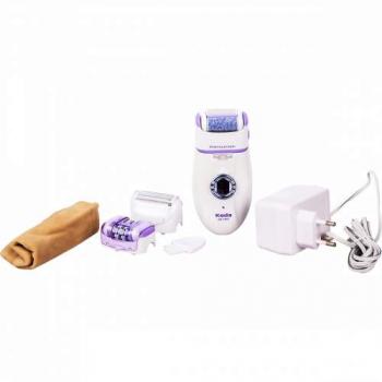 Электроэпилятор 3в1 Keda 191В: эпилятор, бритва, насадка для удаления ороговевшей кожи.