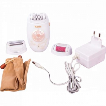 Электроэпилятор 3в1 Keda 196: эпилятор, бритва, насадка для удаления ороговевшей кожи. | Venko