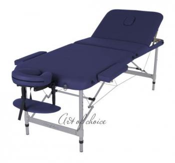 Массажный стол складной ArtOfChoise Leo Comfort (синий) | Venko