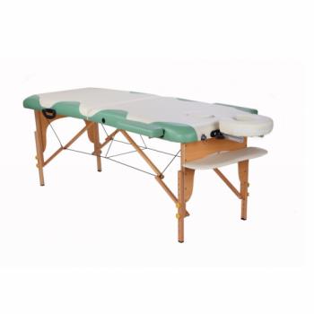 Массажный стол складной Miracle Plus cream/green | Venko