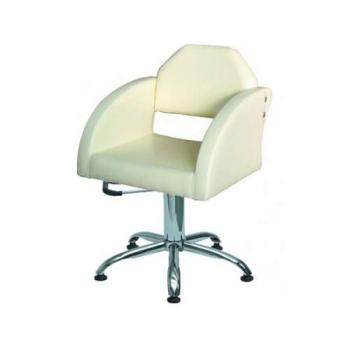 Кресло парикмахерское CORNELIA на пневматике хром