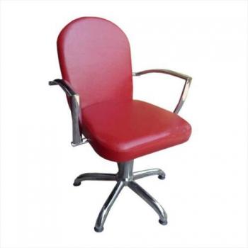 Кресло парикмахерское LARA на пневматике хром