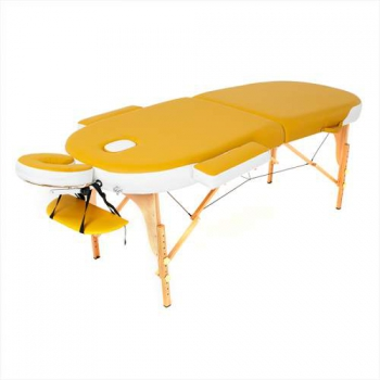 Складной массажный стол RelaxLine, Sahara желтыйбелый | Venko