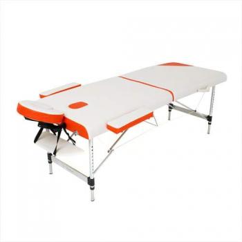 Складной массажный стол Sonata RelaxLine белый/оранжевый | Venko