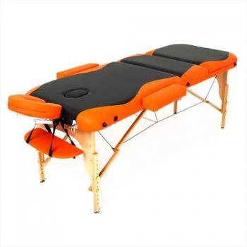 Массажный стол складной RelaxLine*Titan* (оранжевый/черный) | Venko