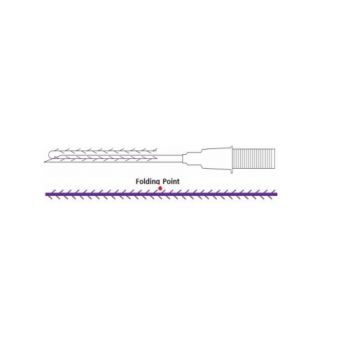 Мезонить Cog Easy Needle , 23G, 70 mm/120 mm, 4-0 | Venko