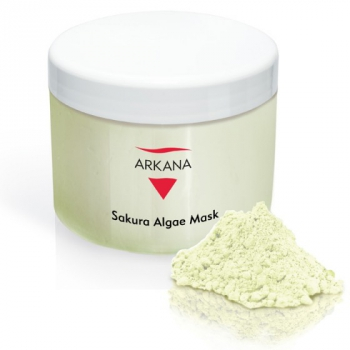 Маска для чувствительной и куперозной кожи с экстрактом сакуры Arkana Sakura Algae Mask 500мл