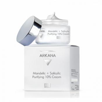 Обновляющий крем с 8% гликолиевой и 2% фитиновой кистолотами Arkana Mandelic and Salicylic Purifying 10% Cream 50мл