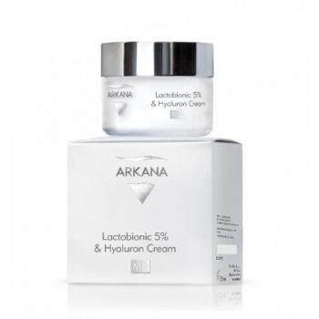 Увлажняющий регенерирующий крем с 5% лактобионовой и гиалуроновой кислотами Arkana Lactobionic 5% and Hyaluron Cream 50мл | Venko