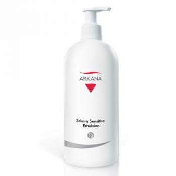 Успокаивающая эмульсия для удаления макияжа Arkana Sakura Sensitive Emulsion 500мл | Venko