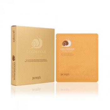 Гидрогелевая маска с золотом и улиткой, PETITFEE Gold & Snail Hydrogel Mask Pack 30 г | Venko