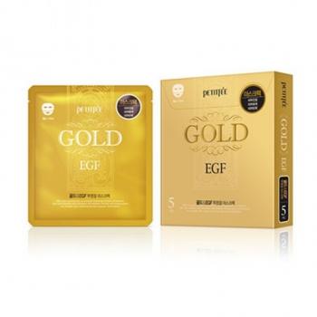 Гидрогелевая маска для лица с золотом, PETITFEE Gold & EGF Transparent Gel Mask Pack 30 г | Venko