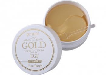 Гидрогелевые патчи для глаз с золотом и EGF, PETITFEE Premium Gold & EGF Eye Patch 60 шт