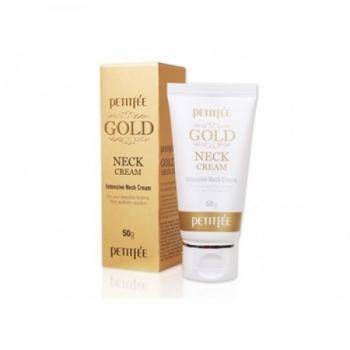 Крем для шеи и декольте с золотом,Petitfee Gold Neck Cream 50 гр | Venko