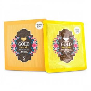 Гидрогелевая маска для лица с золотом,KOELF Gold & Royal Jelly Hydro Gel Mask 30 г | Venko