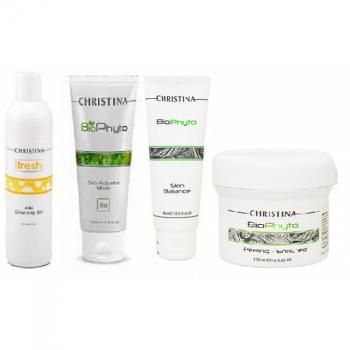 Уход за жирной кожей. Снижение себоактивности (4 продукта) Christina | Venko