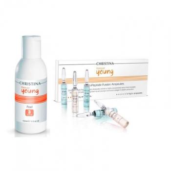 Ампулы с пептидами Christina - Forte Peel Multi-Peptide Ampoule Fluoroxygen+C | Venko
