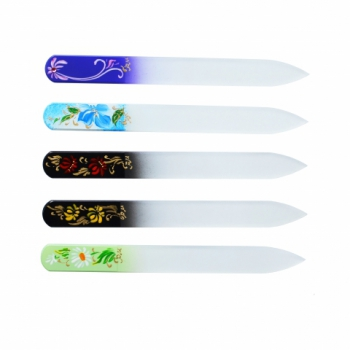 Пилка стеклянная для ногтей ручная роспись 135