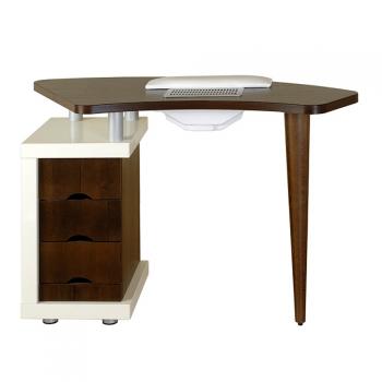 Стол для маникюра Ibisс вытяжкой с деревянной столешницей Panda | Venko