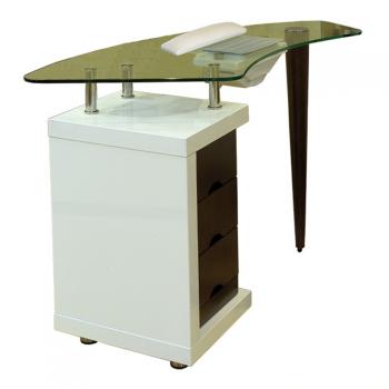 Стол для маникюра Ibisс вытяжкой со стеклянной столешницей Panda | Venko