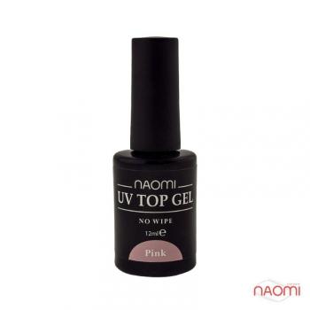 Закрепитель гель-лака 12 мл Naomi UV Top Gel No Wipe Pink | Venko