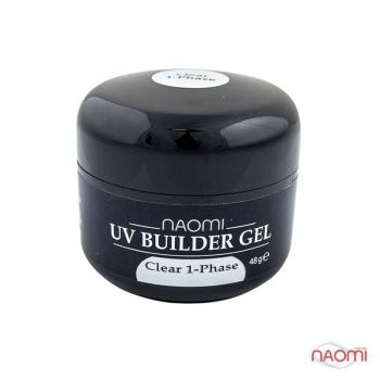 ГельNaomi UV Builder Gel Clear 1-Phase, 48гр | Venko