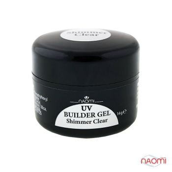 Гель Naomi UV Builder Gel Shimmer Clear, 14гр