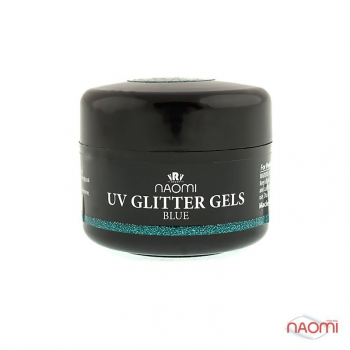 Гель Naomi UV Glitter Gel Blue, 14гр | Venko