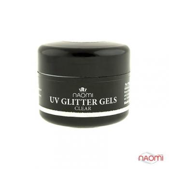 Гель Naomi UV Glitter Gel Cler, 14гр | Venko