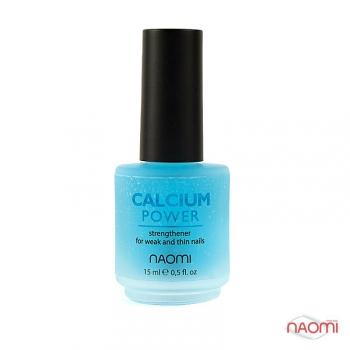 Укрепитель с кальциием для слабых и ломких ногтей, 15 мл Naomi Calcium Power