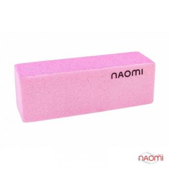 Баф для ногтей розовый NAOMI, 100/180 HBWB10P | Venko