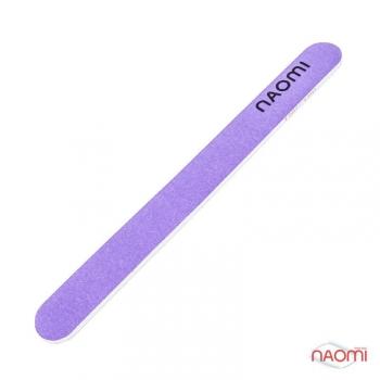 Пилка для ногтей фиолетовая NAOMI, 180/180 CO1002