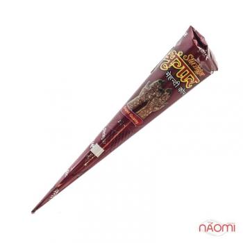 Хна для росписи тела в конусной упаковке maroon/красно-коричневая | Venko