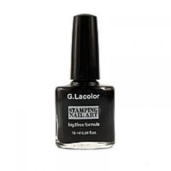 Лак для ногтей для стемпинга 10 мл G.Lacolor №1 | Venko