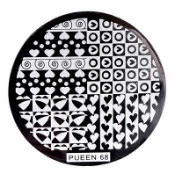 Диск для стемпинга PUEEN №68