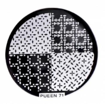 Диск для стемпинга PUEEN №71