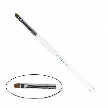 Кисть для наращивания G.Lacolor с прозрачной ручкой №4