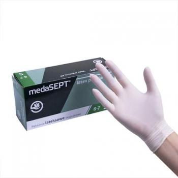 Виниловые перчатки неопудренные Vinyl PF. S medaSEPT, 100 шт | Venko