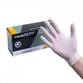 Виниловые перчатки неопудренные Vinyl PF. XS medaSEPT, 100 шт | Venko