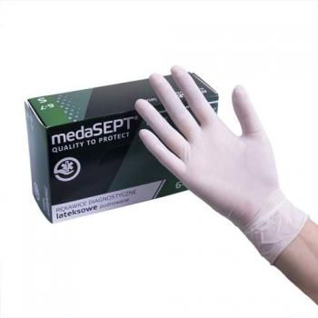 Латексные перчатки опудренные Latex S medaSEPT, 100 шт | Venko