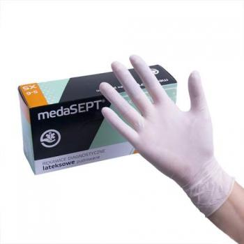 Латексные перчатки опудренные Latexpremium XS medaSEPT, 100 шт | Venko