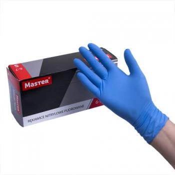 Нитриловые перчатки опудренные Nitrile Tech S medaSEPT, 100 шт | Venko