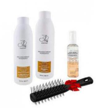 Набор для сухих и поврежденных волос 1000мл (щетка+кристалы)