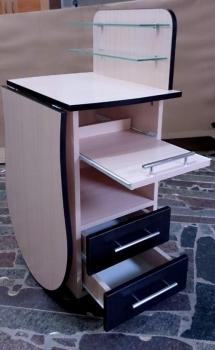 Складной маникюрный стол с выдвижной полочкой для УФ-лампы | Venko