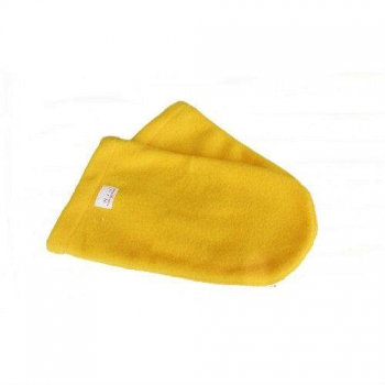 Варежки махра-флис (пара) желтые